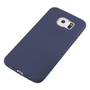 Cadorabo Hülle für Samsung Galaxy S6 in FROST DUNKEL BLAU - Handyhülle aus flexiblem TPU Silikon - Silikonhülle Schutzhülle Ultra Slim Soft Back Cover Case Bumper - Vorschau 2