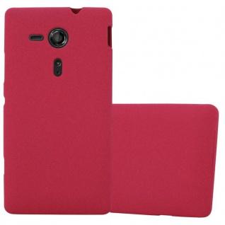 Cadorabo Hülle für Sony Xperia SP in FROST ROT - Handyhülle aus flexiblem TPU Silikon - Silikonhülle Schutzhülle Ultra Slim Soft Back Cover Case Bumper