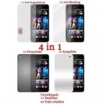Cadorabo Displayschutzfolien für HTC BUTTERFLY - Schutzfolien in HIGH CLEAR - 4 Folien (1x Privacy - 1x Spiegel - 1x Matt - 1x Anti-Fingerabdruck)