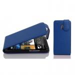 Cadorabo Hülle für HTC ONE M4 MINI (1.Gen.) - Hülle in KÖNIGS BLAU - Handyhülle aus strukturiertem Kunstleder im Flip Design - Case Cover Schutzhülle Etui Tasche
