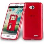 Cadorabo Hülle für LG L70 (1.SIM) - Hülle in ROT - Handyhülle aus TPU Silikon in gebürsteter Edelstahloptik (Brushed) Silikonhülle Schutzhülle Soft Back Cover Case Bumper