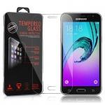 Cadorabo Panzer Folie für Samsung Galaxy J3 2016 (6) - Schutzfolie in KRISTALL KLAR - Gehärtetes (Tempered) Display-Schutzglas in 9H Härte mit 3D Touch Glas Kompatibilität