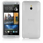 Cadorabo Hülle für HTC ONE M4 MINI (1.Gen.) - Hülle in HALB TRANSPARENT - Handyhülle aus flexiblem TPU Silikon im X-Line Design - Silikonhülle Schutzhülle Soft Back Cover Case Bumper
