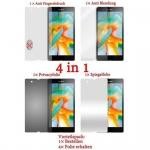 Cadorabo Displayschutzfolien für Sony Xperia Z - Schutzfolien in HIGH CLEAR - 4 Folien (1x Privacy - 1x Spiegel - 1x Matt - 1x Anti-Fingerabdruck)