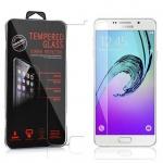 Cadorabo Panzer Folie für Samsung Galaxy A7 2016 (6) - Schutzfolie in KRISTALL KLAR - Gehärtetes (Tempered) Display-Schutzglas in 9H Härte mit 3D Touch Glas Kompatibilität