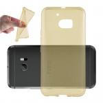 Cadorabo Hülle für HTC 10 - Hülle in TRANSPARENT GOLD - Handyhülle aus TPU Silikon im Ultra Slim 'AIR' Design - Silikonhülle Schutzhülle Soft Back Cover Case Bumper