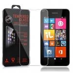 Cadorabo Panzerglas für Nokia Lumia 540 - Schutzfolie in KRISTALL KLAR ? Gehärtetes (Tempered) Display-Schutzglas in 9H Härte mit 3D Touch Kompatibilität