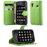 Cadorabo Hülle für Samsung Galaxy ACE 1 - Hülle in MINZ GRÜN ? Handyhülle mit Kartenfach und Standfunktion - Case Cover Schutzhülle Etui Tasche Book Klapp Style