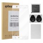 Cadorabo Vollbild Panzer Folie für Nokia 5 2017 - Schutzfolie in TRANSPARENT mit WEISS - Gehärtetes (Tempered) Display-Schutzglas in 9H Härte mit 3D Touch Glas Kompatibilität