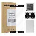 Cadorabo Vollbild Panzer Folie für Samsung Galaxy A9 2015 (5) - Schutzfolie in TRANSPARENT mit SCHWARZ - Gehärtetes (Tempered) Display-Schutzglas in 9H Härte mit 3D Touch Glas Kompatibilität
