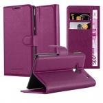 Cadorabo Hülle für HTC ONE M7 (1. Gen.) - Hülle in MANGAN VIOLETT ? Handyhülle mit Kartenfach und Standfunktion - Case Cover Schutzhülle Etui Tasche Book Klapp Style