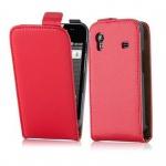 Cadorabo Hülle für Samsung Galaxy ACE (1. Gen.) - Hülle in CHILI ROT ? Handyhülle aus glattem Kunstleder im Flip Design - Case Cover Schutzhülle Etui Tasche
