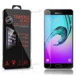 Cadorabo Panzer Folie für Samsung Galaxy A5 2016 (6) - Schutzfolie in KRISTALL KLAR - Gehärtetes (Tempered) Display-Schutzglas in 9H Härte mit 3D Touch Glas Kompatibilität