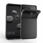 Cadorabo Hülle für Huawei MATE 10 - Hülle in SCHWARZ - Handyhülle aus TPU Silikon im Ultra Slim 'AIR' Design - Silikonhülle Schutzhülle Soft Back Cover Case Bumper