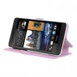 Cadorabo Hülle für HTC ONE MINI M4 (1.Gen.) - Hülle in ICY ROSE - Handyhülle mit Standfunktion und Kartenfach im Ultra Slim Design - Case Cover Schutzhülle Etui Tasche Book