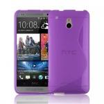 Cadorabo Hülle für HTC ONE M4 MINI (1.Gen.) - Hülle in FLIEDER VIOLETT - Handyhülle aus flexiblem TPU Silikon im S-Line Design - Silikonhülle Schutzhülle Soft Back Cover Case Bumper