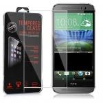 Cadorabo Panzer Folie für HTC ONE M8 (2.Gen.) - Schutzfolie in KRISTALL KLAR - Gehärtetes (Tempered) Display-Schutzglas in 9H Härte mit 3D Touch Glas Kompatibilität