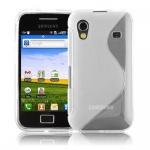 Cadorabo Hülle für Samsung Galaxy ACE 1 - Hülle in HALB TRANSPARENT â€? Handyhülle aus flexiblem TPU Silikon im S-Line Design - Ultra Slim Soft Backcover Case Bumper