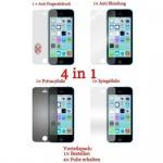 Cadorabo Displayschutzfolien für Apple iPhone 5C - Schutzfolien in HIGH CLEAR - 4 Folien (1x Privacy - 1x Spiegel - 1x Matt - 1x Anti-Fingerabdruck)