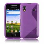Cadorabo Hülle für Samsung Galaxy ACE 1 - Hülle in FLIEDER VIOLETT - Handyhülle aus flexiblem TPU Silikon im S-Line Design - Silikonhülle Schutzhülle Soft Back Cover Case Bumper