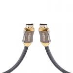 Cadorabo - 1, 0m HQ HDMI Kabel 2.0 / 1.4a High Speed mi Ethernet, Nylon-Schutz, Ultra HD 4K - 3D Ready ARC 1080p / 2160p [1 Meter] mit vergoldeten Anschlüssen in SCHWARZ