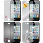 Cadorabo Displayschutzfolien für Apple iPhone 4 / 4S - Schutzfolien in HIGH CLEAR - 4 Folien (1x Privacy - 1x Spiegel - 1x Matt - 1x Anti-Fingerabdruck)