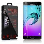 Cadorabo Panzer Folie für Samsung Galaxy A5 2015 (5) - Schutzfolie in KRISTALL KLAR - Gehärtetes (Tempered) Display-Schutzglas in 9H Härte mit 3D Touch Glas Kompatibilität