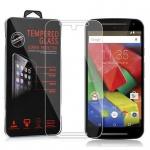 Cadorabo Panzerglas für Motorola MOTO G2 - Schutzfolie in KRISTALL KLAR ? Gehärtetes (Tempered) Display-Schutzglas in 9H Härte mit 3D Touch Kompatibilität