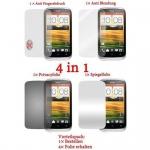 Cadorabo Displayschutzfolien für HTC DESIRE X - Schutzfolien in HIGH CLEAR - 4 Folien (1x Privacy - 1x Spiegel - 1x Matt - 1x Anti-Fingerabdruck)