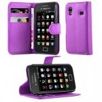 Cadorabo Hülle für Samsung Galaxy ACE 1 - Hülle in MANGAN VIOLETT ? Handyhülle mit Kartenfach und Standfunktion - Case Cover Schutzhülle Etui Tasche Book Klapp Style