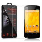 Cadorabo Panzerglas für LG Google Nexus 4 - Schutzfolie in KRISTALL KLAR ? Gehärtetes (Tempered) Display-Schutzglas in 9H Härte mit 3D Touch Kompatibilität