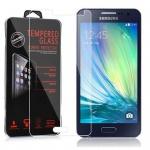 Cadorabo Panzer Folie für Samsung Galaxy A3 2015 (5) - Schutzfolie in KRISTALL KLAR - Gehärtetes (Tempered) Display-Schutzglas in 9H Härte mit 3D Touch Glas Kompatibilität