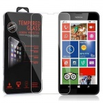 Cadorabo Panzerglas für Nokia Lumia 630 / 635 - Schutzfolie in KRISTALL KLAR ? Gehärtetes (Tempered) Display-Schutzglas in 9H Härte mit 3D Touch Kompatibilität