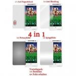 Cadorabo Displayschutzfolien für Motorola RAZR I - Schutzfolien in HIGH CLEAR - 4 Folien (1x Privacy - 1x Spiegel - 1x Matt - 1x Anti-Fingerabdruck)