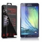 Cadorabo Panzer Folie für Samsung Galaxy A7 2015 (5) - Schutzfolie in KRISTALL KLAR - Gehärtetes (Tempered) Display-Schutzglas in 9H Härte mit 3D Touch Glas Kompatibilität