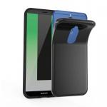 Cadorabo Hülle für Huawei MATE 10 LITE - Hülle in SCHWARZ - Handyhülle aus TPU Silikon im Ultra Slim 'AIR' Design - Silikonhülle Schutzhülle Soft Back Cover Case Bumper