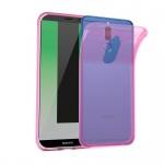 Cadorabo Hülle für Huawei MATE 10 LITE - Hülle in TRANSPARENT PINK - Handyhülle aus TPU Silikon im Ultra Slim 'AIR' Design - Silikonhülle Schutzhülle Soft Back Cover Case Bumper