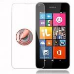 Cadorabo Panzerglas für Nokia Lumia 532 - Schutzfolie in KRISTALL KLAR ? Gehärtetes (Tempered) Display-Schutzglas in 9H Härte mit 3D Touch Kompatibilität