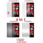 Cadorabo Displayschutzfolien für Nokia Lumia 720 - Schutzfolien in HIGH CLEAR - 4 Folien (1x Privacy - 1x Spiegel - 1x Matt - 1x Anti-Fingerabdruck)