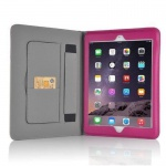 Cadorabo Apple iPad AIR 1 (Model 2013) Schutzhülle im Book Style mit Standfunktion und Haltegriff ? Case Cover Bumper in HIMBEER PINK