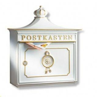 Briefkasten Mailbox Bordeaux aus robustem Alu-Guss Weiss