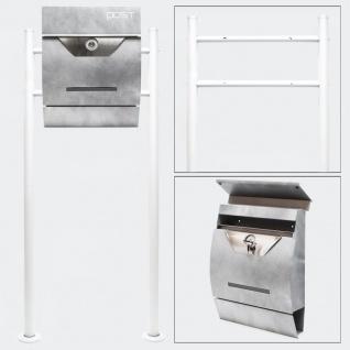 Standbriefkasten HELLGRAU Briefkasten Postkasten Padova