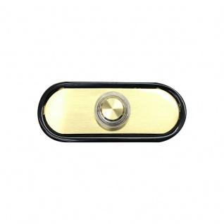 Türklingel Messing 78x32mm mit beleuchtetem Drucktaster