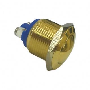 Klingeltaster Drucktaster Messingtaster in Gold 19mm Durchmesser Betätiger gewölbt