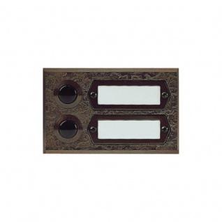 Türklingel aus Bronzeguss Aufputz Montage 2fach