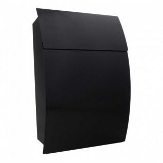 Edelstahl Design Mailbox Briefkasten Harrow Schwarzgrau