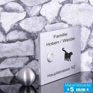 Türklingelschild 160x110mm Katze Klingelplatte Premium Qualität