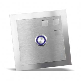 Edelstahl Türklingel 100x100mm mit Designelement Design 1
