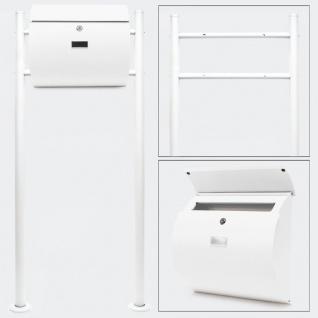 Standbriefkasten WEIß Briefkasten Postkasten Mailand