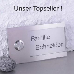 Design Türklingel 130x75mm mit Acrylglas glasklar